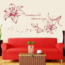 lily flower friendship is love without his wings fl flower wall decals stickers