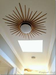 lovely maybe in our hallway starburst flush mount diy version too cute for low ceiling chandelier