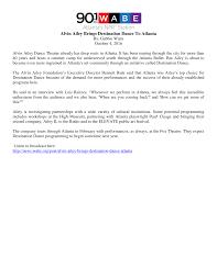 Alvin Ailey Brings Destination Dance To Atlanta