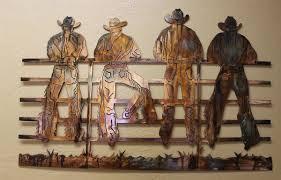 kickin back cowboys metal wall art decor on cowboy metal wall art with email
