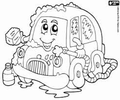 Kleurplaat Een Kleine Auto In Een Auto Wassen Kleurplaten