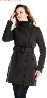 womens winter woolen coat with belt long slim wool trench coat grey