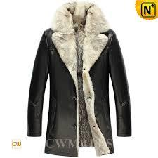 black wolf fur coat
