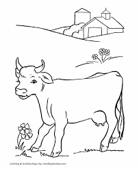 Small Picture Cow Coloring Pages Printable farm dairy milk cow coloring page