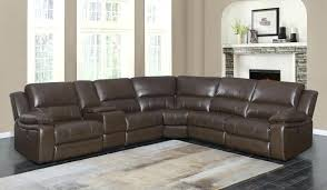summerbridge 6 pc leather sectional sofa power sofas busters furniture 1