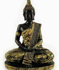 Lord Buddha Black Golden Buddha Statue In Meditation Mudra 9 Inch. Vastu Feng  Shui ...