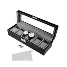 sortwise ® vintage style watch box 6 grid mens black pu leather sortwise ® vintage style watch box 6 grid mens black pu leather watch case at lightingbox com