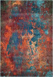 orange and turquoise area rug awesome red modern aria aqua rugs for naily regarding 21