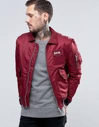 schott nylon flight er burdy men jacket schott leather jackets on schott nyc hooded er jacket with faux fur collar