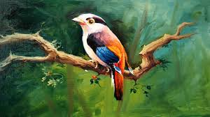 oil painting of birds a bird painting with oil colors on canvaspaintlane oil