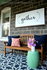gather large wood sign perfect for a porch