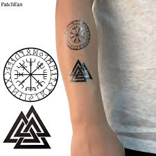 Us 1779 11 Off50pcsset Patchfan Viking Cool Temporary Body Art Flash Tattoo Sticker Para Shoulder Arm Water Transfer Diy Makeup Cosplay A1168 In
