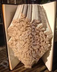 vase flowers 3 cut fold book folding pattern