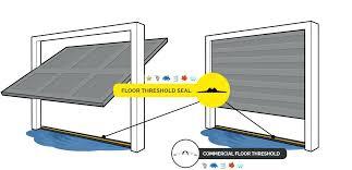 garage door sealer threshold seal installation bottom weather menards wood trim