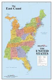 eastern usa road map free inside united states with cities  all