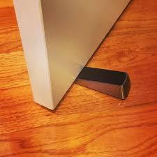 door stopper wedge. Deluxe Door Stop Wedge, Brushed Nickel Finish, 2-pack Stopper Wedge
