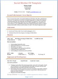 Objective For Social Work Resume Modern Social Worker Resume Template Sample Sample Resume 50