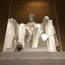 lincoln memorial statue face. lincoln memorial statue face