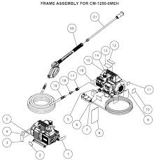 mi t m chore master cm 1250 omeh series cold water pressure washer mi t m cm 1250 pressure washer parts