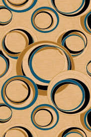 blue cream circle design hand carved modern rings rug circle pattern area rugs