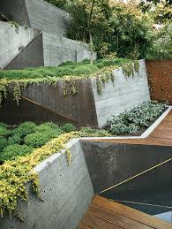 Japanese Landscape Architecture Modern Landscaping Terrace Concrete Wall Ramps Ipe Deck Change