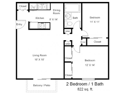 One Bedroom One Bath Floor Plans Two Bedrooms One Full