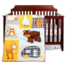 trend lab let s go camping 3 piece crib bedding set