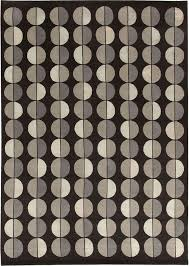 contemporary rug geometric pattern wool silk sole luna slate