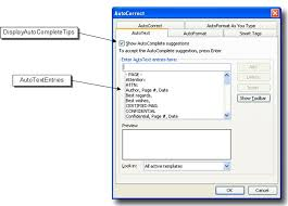 Using Scripts To Manage Word S Autotext Options