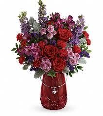 riverside ca florist home teleflora s delicate heart bouquet flowers view larger