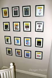 playbills as wall art design dazzle