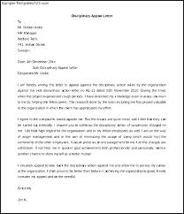 Writing An Appeal Letter Disciplinary Appeal Letter Template Appeal Decision Letter