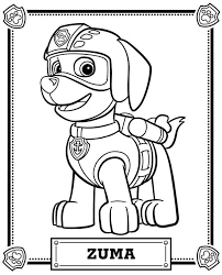 Paw Patrol Coloring Pages To Print Zuma Restaurant Paw Patrol