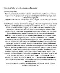 Sales Proposal Letter Fascinating 48 Proposal Letter Examples Sample Templates