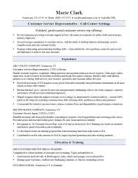 Sample Customer Service Resume