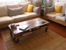 Pallet Coffee Table For Living Room With Wheels  101 PalletsPallet Coffee Table On Wheels