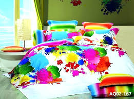 bright solid color baby bedding colored multi comforter sets cotton 3 colorful flower power