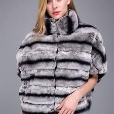1706022 rex rabbit chinchilla fur jacket bat eileenhou 1