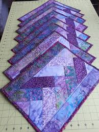 127 best Quilted Placemats, Mug Rugs, Table Runners images on ... & Set of eight quilted placemats purple batik cotton by LandFallFarm Adamdwight.com