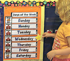Days Of The Week Chart For Toddlers Make Calendar Time Meaningful For Preschoolers