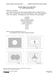 Boolean Algebra Venn Diagram Boolean Algebra And Logic Gates Ccupload