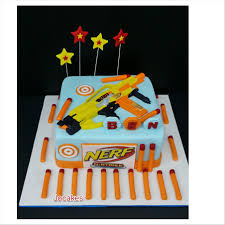 Nerf gun cake for Benjamin s 5th birthday