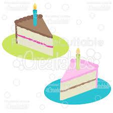birthday cake slice clipart. Delighful Birthday BirthdayCakeSlicesFreeSVGCutFileClipart To Birthday Cake Slice Clipart F