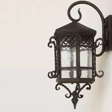 lights of tuscany spanish style iron outdoor lantern lamp