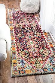 nuloom traditional vintage vibrant meadow runner area rugs 2 6 x 8 multicolor