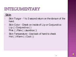 Skin Turgor Charting Basic Head To Toe Assessment