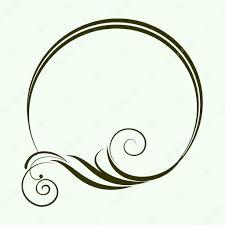 oval frame design. Decorative Oval Frame For Design. Vector Illustration. \u2014 Stock Design
