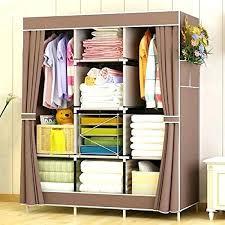 portable closet storage organizer clothes wardrobe with shoe rack shelves shelf 6 2 drawers closet organizer