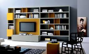 Decorations:Modern Wall Units For Bookshelf Design Idea With Wall Mount Tv Bookshelf  Design Ideas