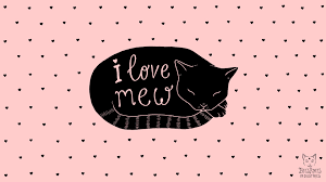 February Desktop Wallpaper: I Love Mew ...